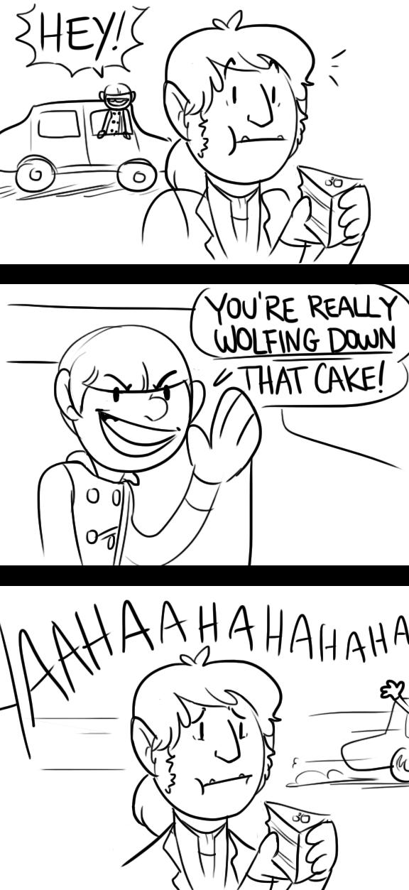 Wolfing Cake